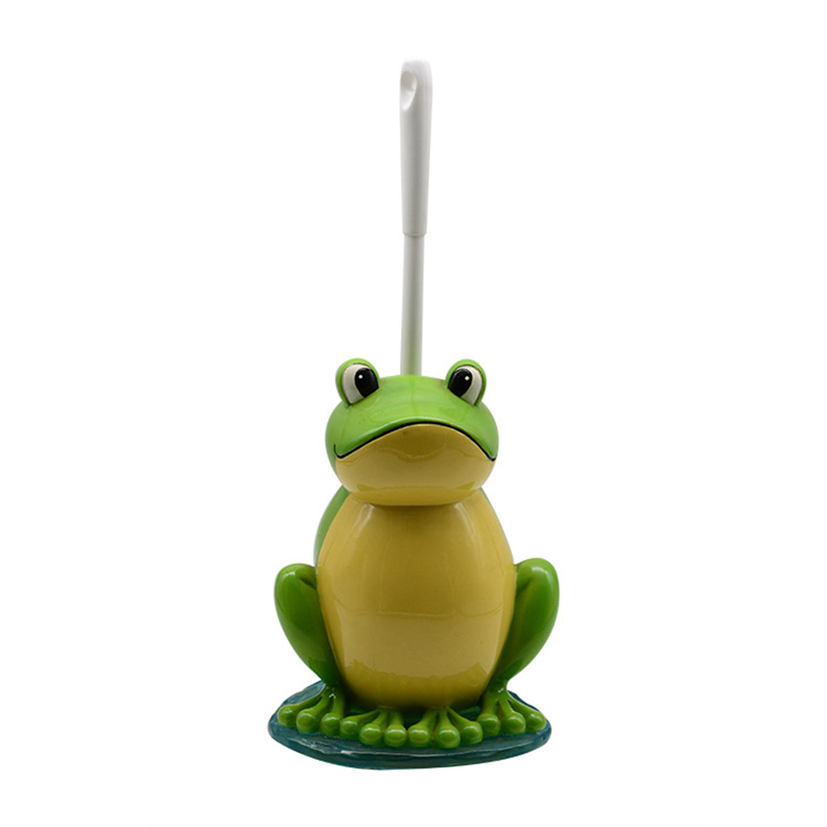 Cartoon Frogs Toilet Brush Stand Holder Set Cleaning Brush Scrubber Cleaner Household Cleaning Tools Resin Plastic Home Hotel