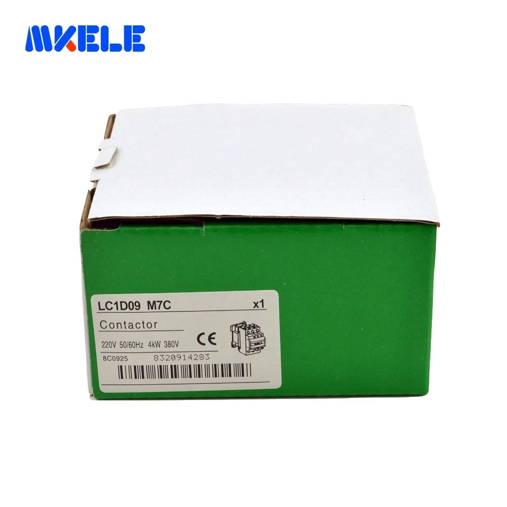Купить с кэшбэком 3P+NO+NC AC Contactor LC1-D09 M7C 220V Coil Voltage Contactor Modular 9A Reated Current  Made In China Makerele
