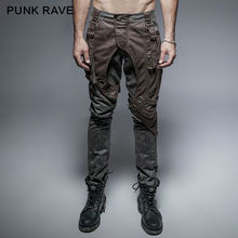 Punk Rave Mens Pants Steampunk Thick Men Military Style Rock Pocket Trousers Cool Clothes Hip Hop Streetwear