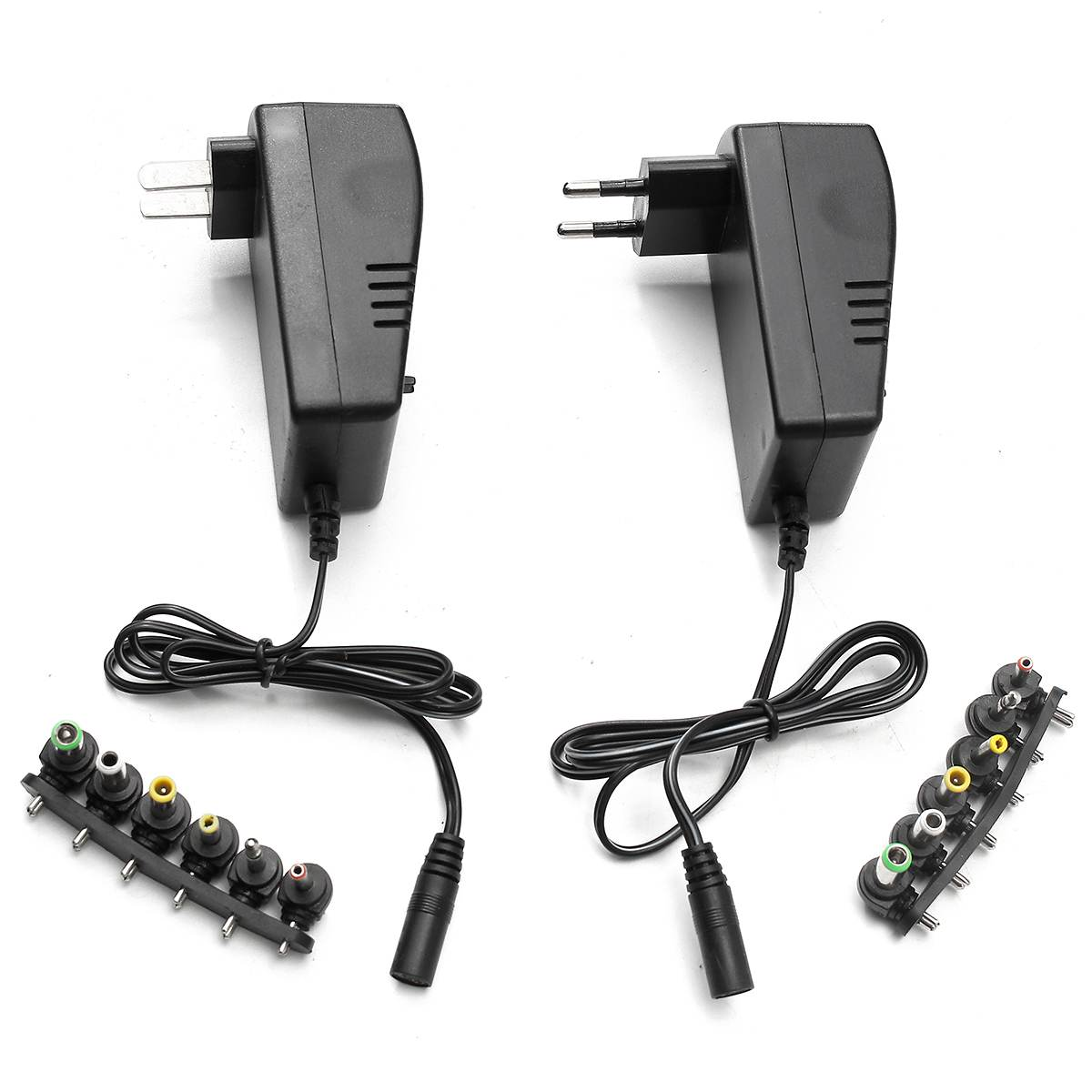 100- 240V AC 50-60Hz Multi Voltage <font><b>3v</b></font> 4.5v 5v 6v 9v 12v DC Adjustable Power <font><b>Adapter</b></font> Universal Charger Supply Converter 6 Plugs image