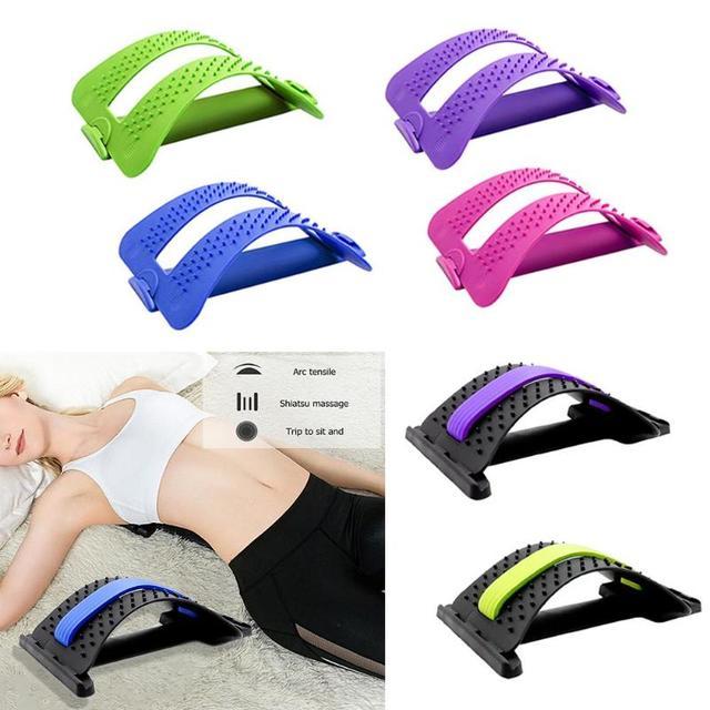 1 pc tramo equipo masajeador Camilla Fitness soporte Lumbar relajación columna alivio del dolor Corrector de la atención de la salud