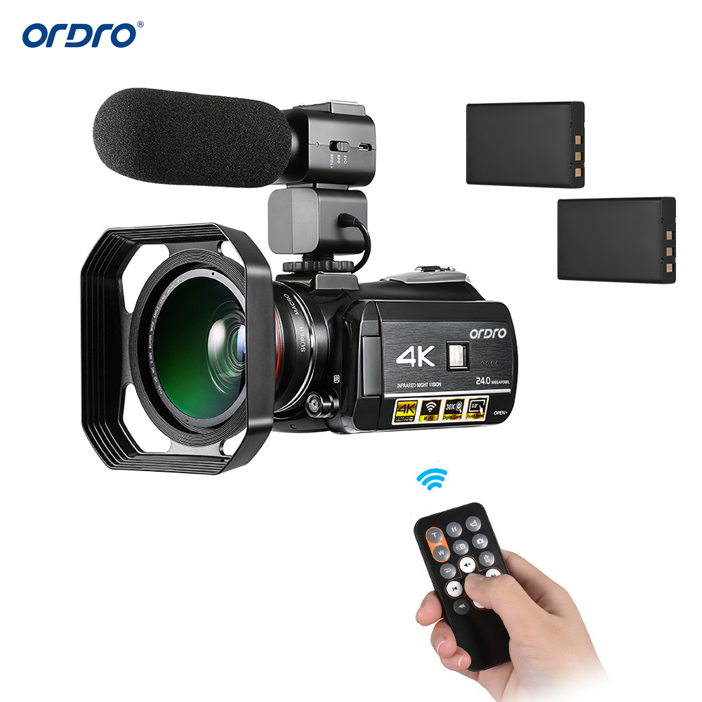 Cargador de batería Micro USB para Ordro hdv-d325 hdv-d370