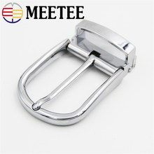 цена на Meetee 35mm Alloy Metal Belt Buckle Pin Buckle Brushed Cowboy Buckle for Men Jeans Accessories DIY Leather Craft Fit 3334mm Belt
