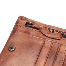 2019 New Arrival Genuine Leather Men's Wallet For Men Small Zipper Organizer Wallets Cash Carteira For Man Coin Purses
