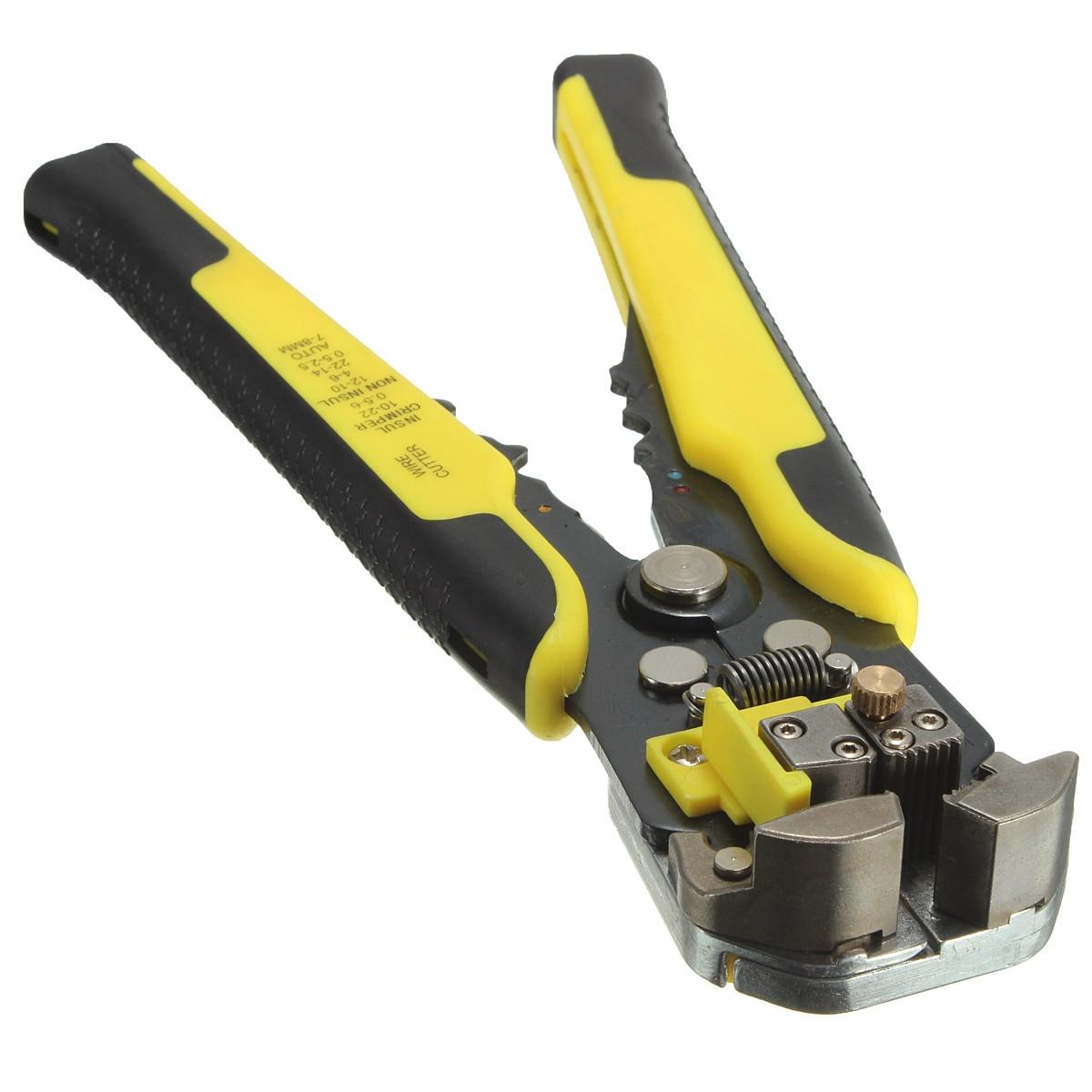 Elétrica Ferramentas de Decapagem Striper Fio Automático Stripper Cortador De Cabo de Fio Alicate de Friso Crimper Terminal Ferramenta de Corte da Mão