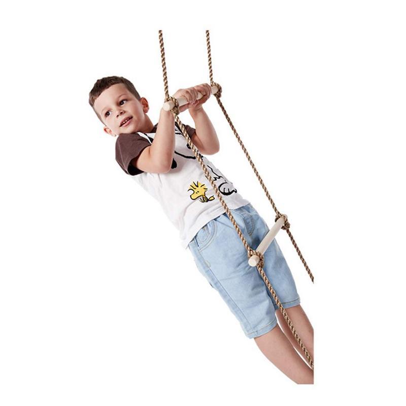 Enfants jeux Jungle Gym corde échelle extérieur intérieur divertissement escalade échelle en bois sûr et Non toxique charge portant 120 kg