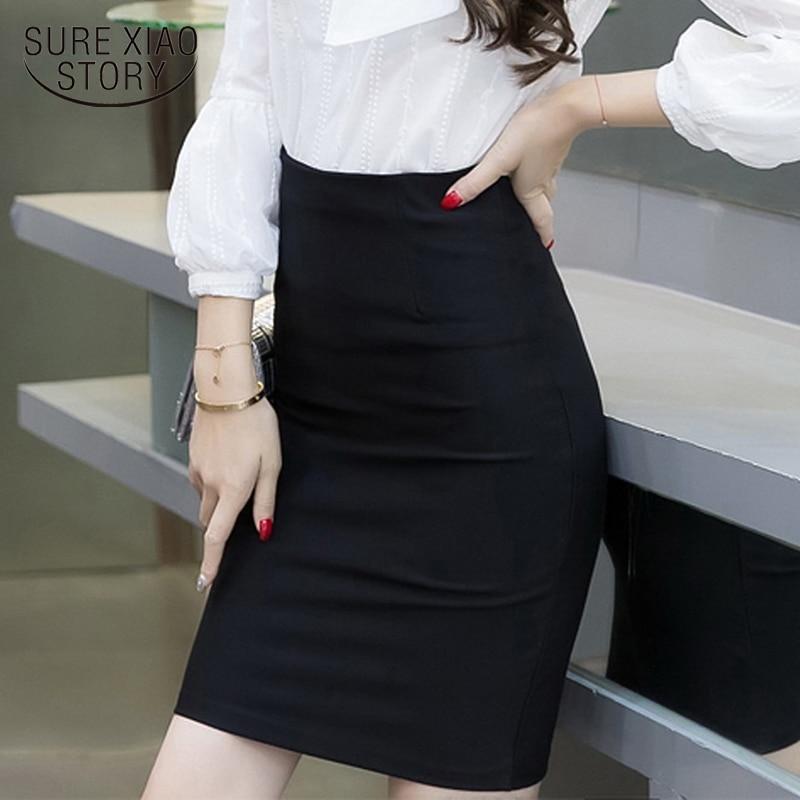 2018 smmer skirts Fashion women skirt Clothing Solid Color formal skirt women Plus Size elegant Slim hip Pencil Skirt  163E 25