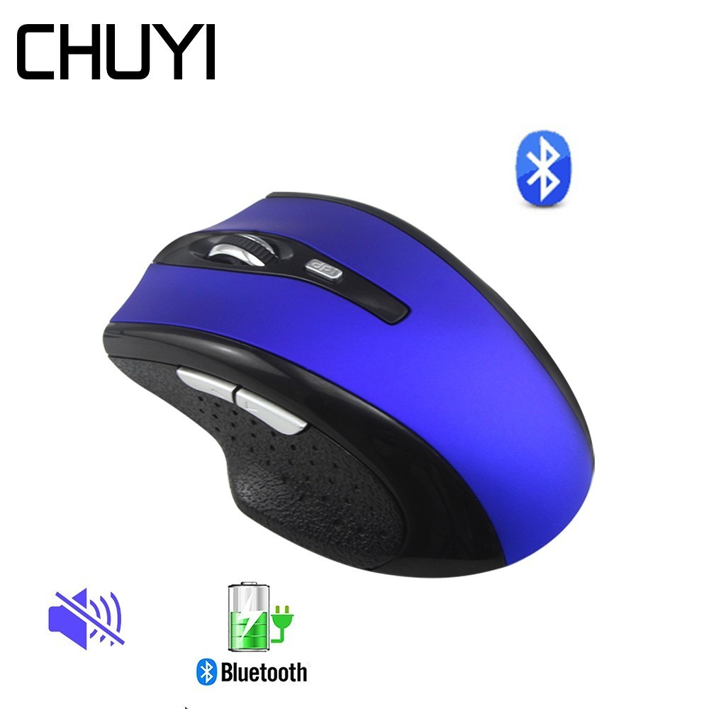 Wireless Bluetooth Mouse Rechargeable Silent Mice Computer Gaming Ergonomic Optical Mause With BT CSR 4.0 Adapter For PC Gamer