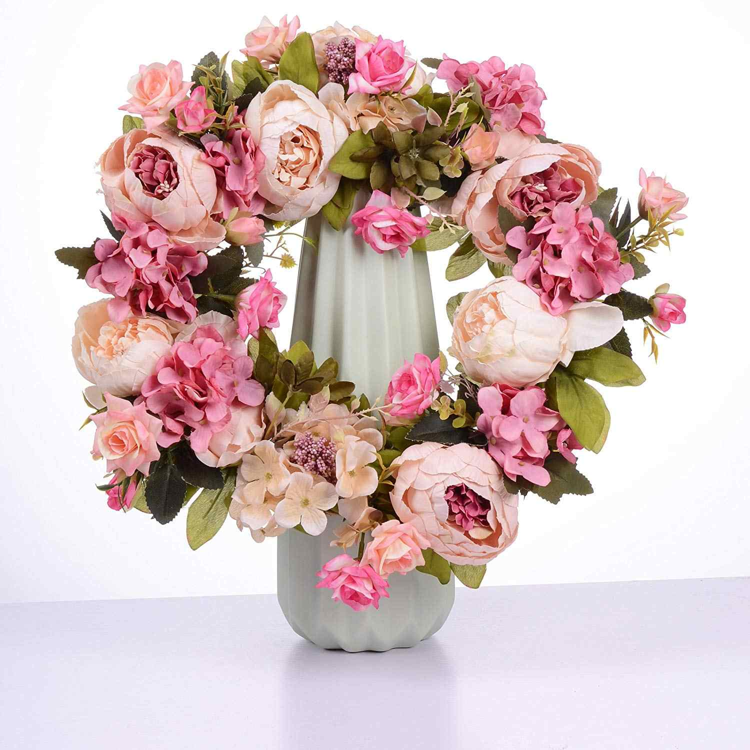 Detail Feedback Questions About Artificial Flower Wreath Peony