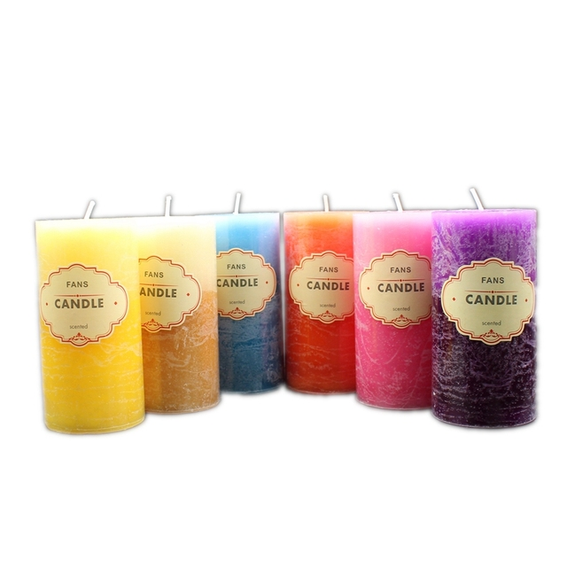 Scented Candle Crafts Column Paraffin Smokeless Scented Candles Fragrant Decorative for Party Home Decor 4
