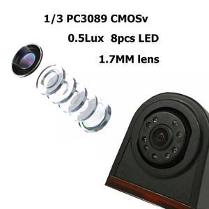 Image 4 - VODOOL coche 3rd luz de freno cámara de visión trasera impermeable IR visión nocturna aparcamiento cámara de marcha atrás para VW Crafter/Mercedes Sprinter