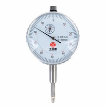 цена на Precision 0-10mm White-face Dial Test Indicator Gauge For Shaft Runout Thrust Mayitr Measuring Tools