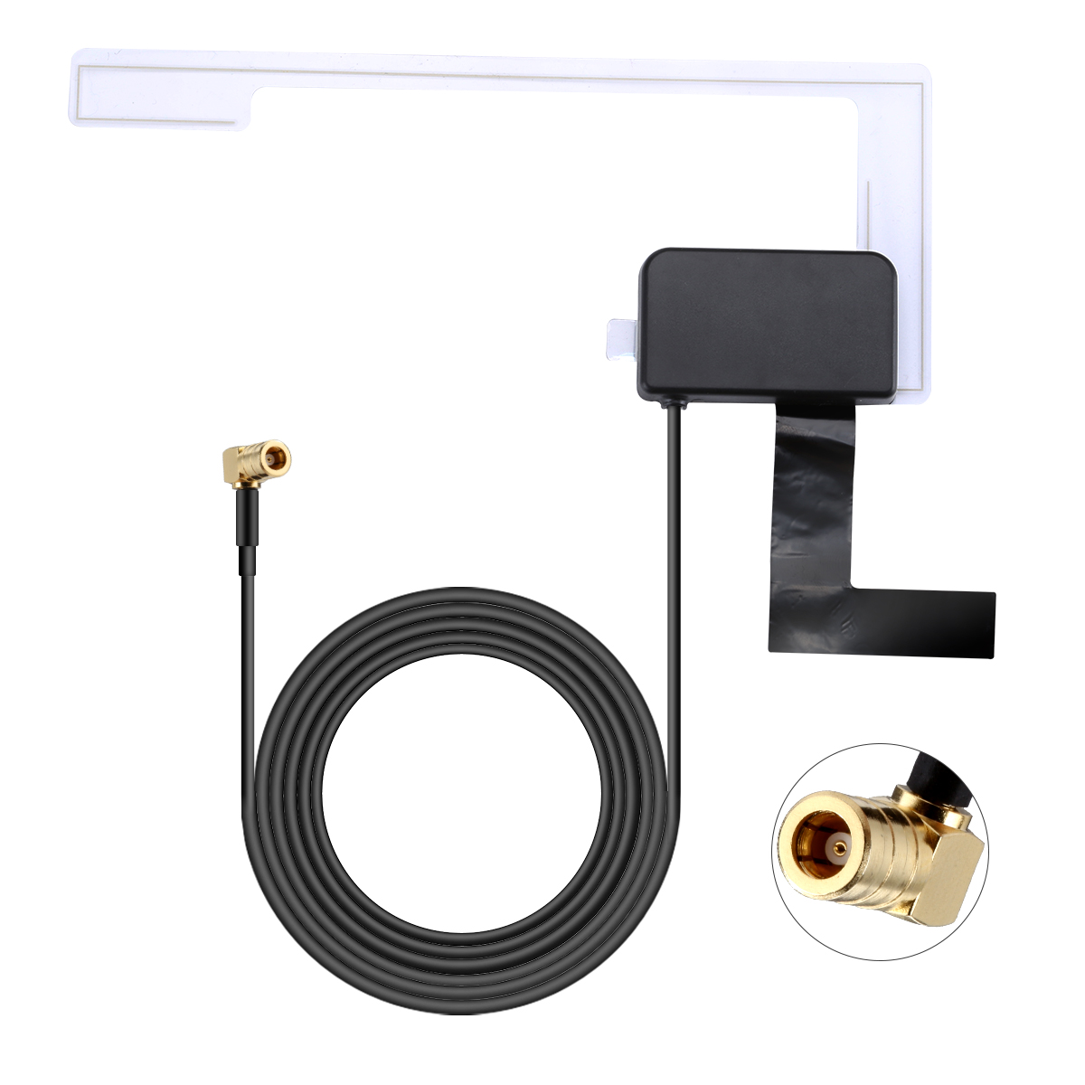 for DAB DAB Car Radio Antenna Patch Aerial Glass Mount Windshield Antenna 3m