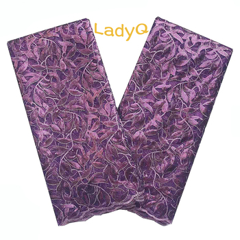 Plum African Lace Fabrics for Parties Wedding Mesh Sequence Embroidered Lace Fabric 2019 High Quality Lace Nigerian Lace Fabric