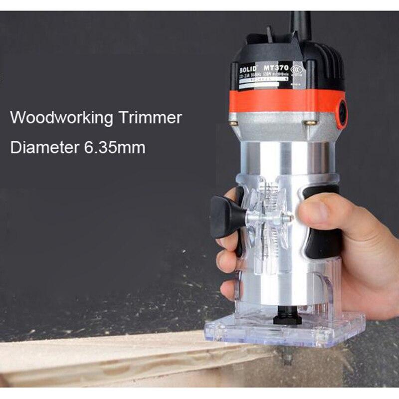 כלים יד 220V 35000Rpm 530W חשמלי יד גוזם עץ Edge 1/4 כלים נתב אינץ ווד נתב גוזם עבור כלי קידוח נגרות / EU (5)