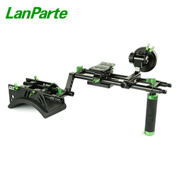 Lanparte 15mm Single Handle Grip Camera  follow focus shoulder Rig kit with Quick Release Baseplate