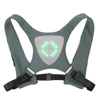 Mounchain Unisex Cycling Vest Wireless Remote Control LED light Warning Vest for Riding Running button batteries LED light Vest