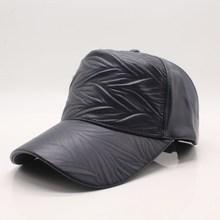 купить High Quality Baseball Cap For Men Women Solid Winter 100% Pu Leather hip hop hats Brand Snapback Hat Bone Masculino Fitted Hats по цене 379.48 рублей
