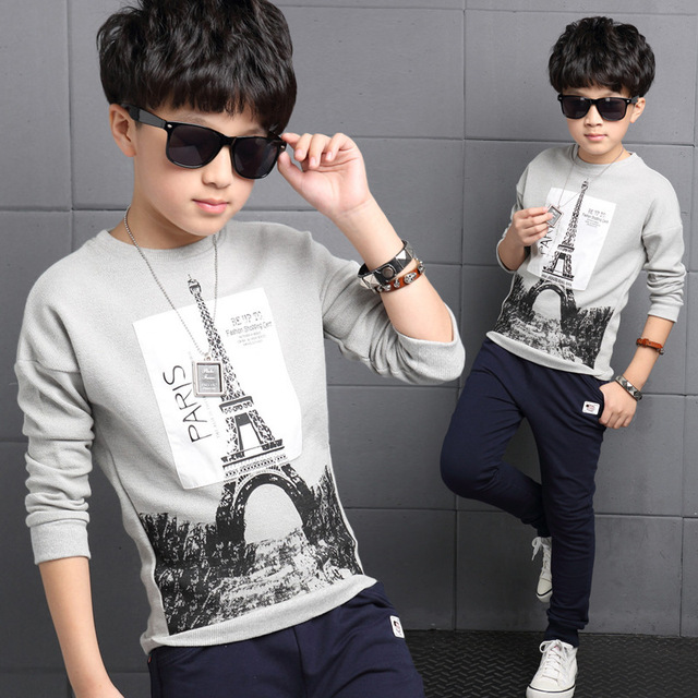 4 5 6 7 8 9 10 11 12 13 14 16 Years 2019 Boys T-Shirts Children Clothing Spring Wear Long Sleeve Baby T-Shirts Tops Tees Costume