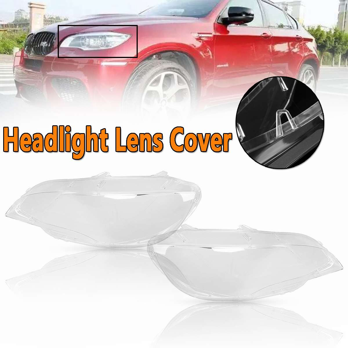 High Quality Car Headlight Lens Cover In Shell Head Lamp Cover For BMW E71 X6 2008-2014 Automobiles Headlamp Lense Cover KitHigh Quality Car Headlight Lens Cover In Shell Head Lamp Cover For BMW E71 X6 2008-2014 Automobiles Headlamp Lense Cover Kit