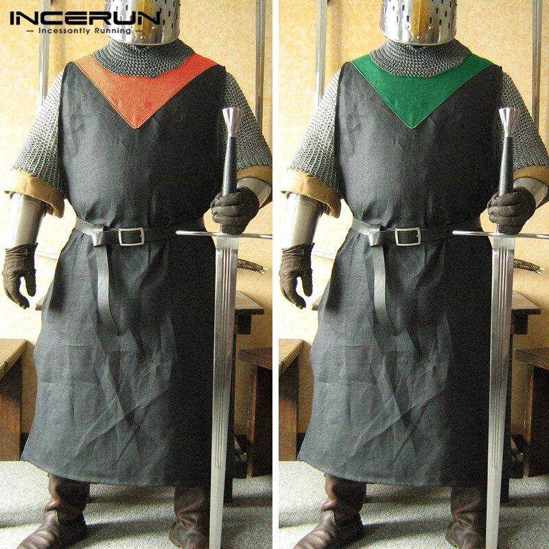a0137fef2289 Vintage Cosplay disfraces Medieval Caballero Guerrero Surcoat ...