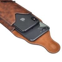 Funda con Clip para cinturón de teléfono móvil, 6,5 pulgadas, 2 bolsas, para iPhone X, XR, XS, MAX, 7, 8, 6 plus, Samsung S10, S9, S8 plus