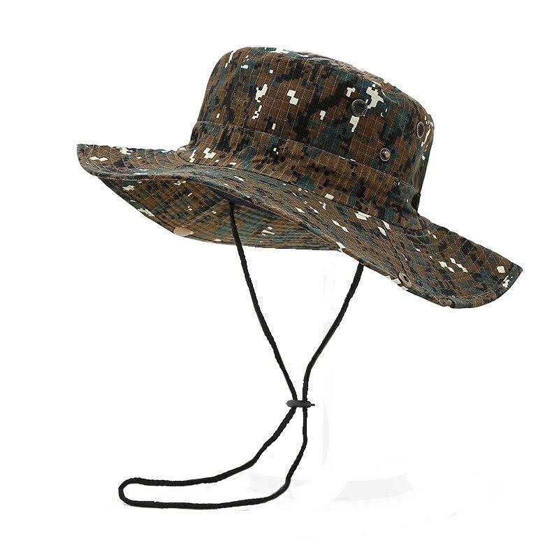 Cappelli A Secchiello! Di Alta Qualità Militare Camouflage Boonie Hat Cappelli A Secchiello Delle Donne Degli Uomini Di Caccia Escursioni Arrampicata Campeggio Multicam Cappello