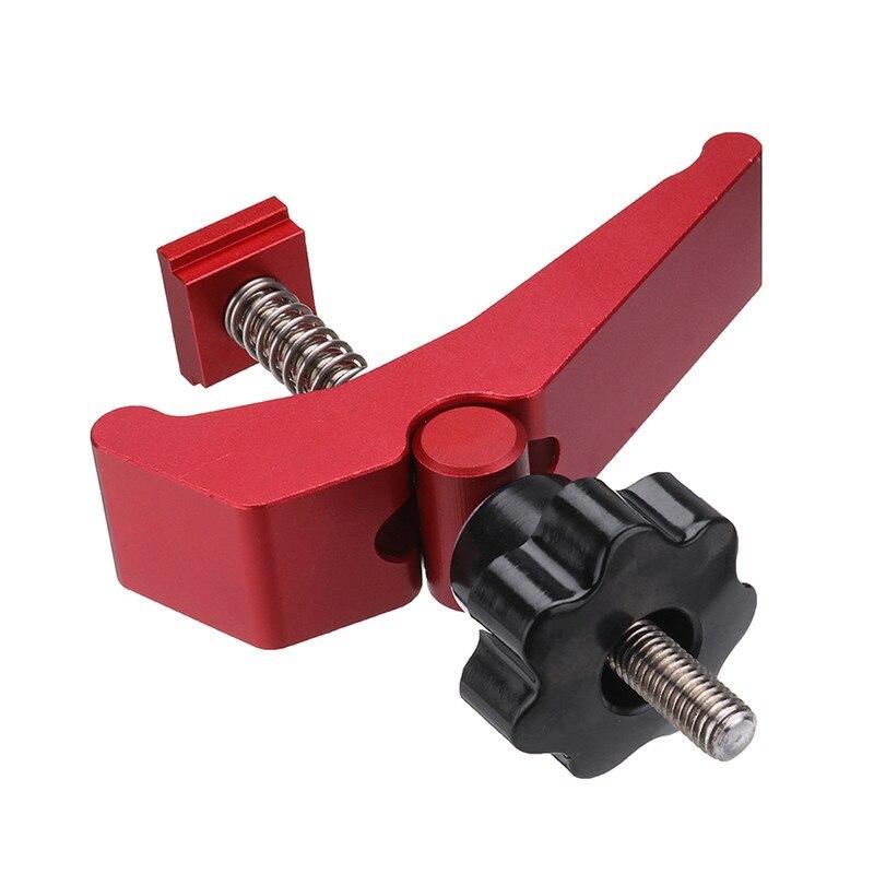 Liga de alumínio durável de ação rápida segure a braçadeira t-slot t-track braçadeira conjunto diy carpintaria ferramenta de qualidade superior