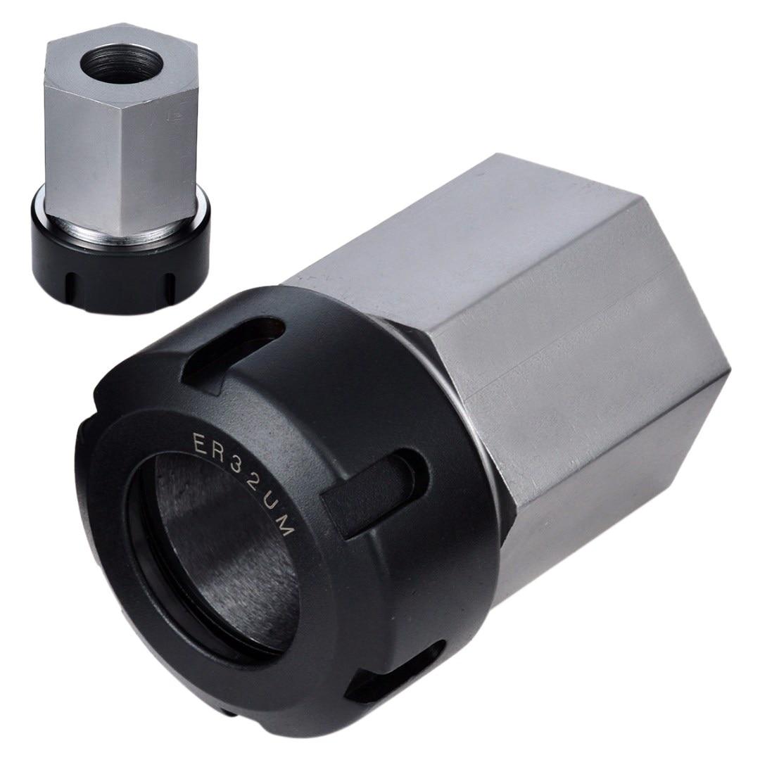 ELEG-1pc ressort mandrin pince support Hex ER32 pince bloc 45x65mm pour tour gravure MachineELEG-1pc ressort mandrin pince support Hex ER32 pince bloc 45x65mm pour tour gravure Machine