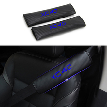 Reflective Car Seat belt shoulder Pads Safe Belt Cover For Volvo XC40 Styling Auto Parts 2pcs