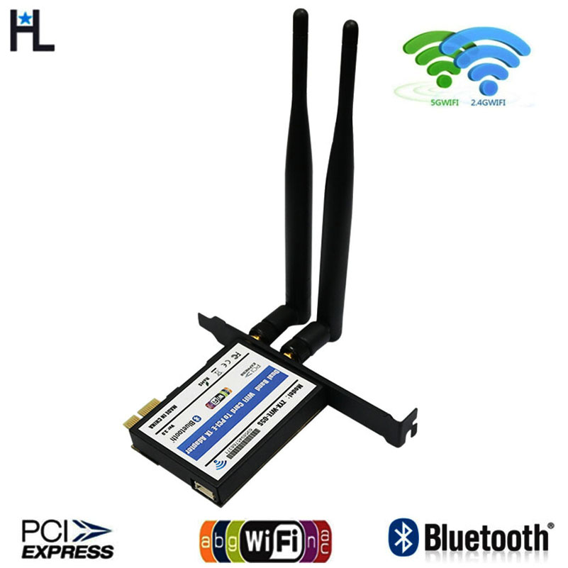 Desktop Wifi Adapter Pci-e Wireless Network Mini PCI-E Card Adapter  Wi Fi Receiver For Pc +Low Profile Bracket