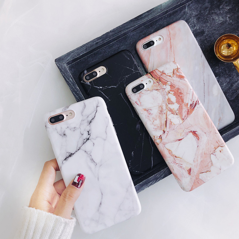 Moskado Shell Phone Case With Glossy Granite Marble Stone Cover For iPhone 11 Pro X XS Max XR 3