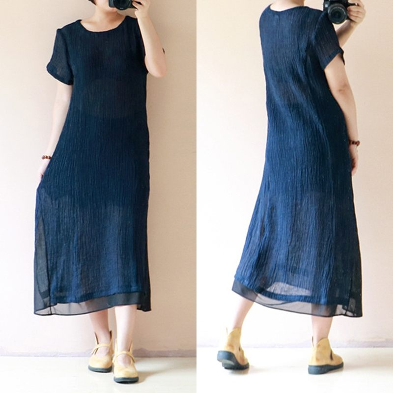 b5e1935730e 2019-Celmia-Vintage-Summer-Maxi-Dress-Women-Short-Sleeve-Long-Shirt-Dresses -Loose-Casual-Female-Beach.jpg