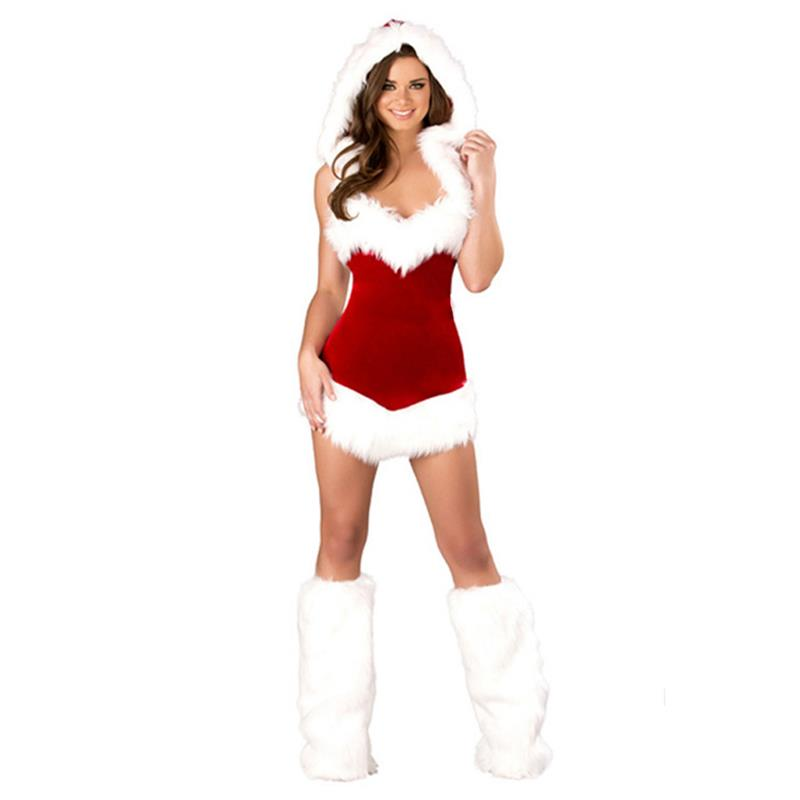 New Fashion Sexy Women Christmas Santa Claus Costume Babydoll Lingerie Set  Nightwear Underwear With Hood Erotic Lenceria-in Holidays Costumes from  Novelty ... dd29fec62