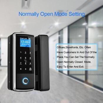 цена на Eseye Fingerprint Door Lock Glass Door Lock Touch Screen For Home Office Anti-theft Keyless Electric Lock Smart Door Locks