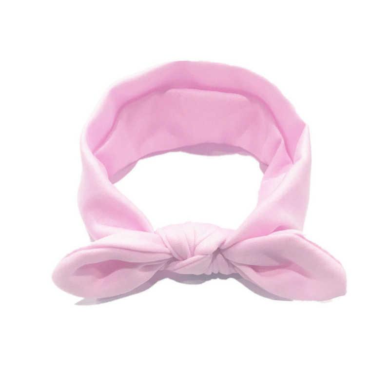 新生児ソフト弾性ベビーヘッドバンドノットソリッド頭飾り弓の毛のヘッドバンド