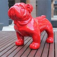 European Large Fortune British Bulldog Dog Simulation Decoration Shop Opening Housewarming Gifts home decor FRP