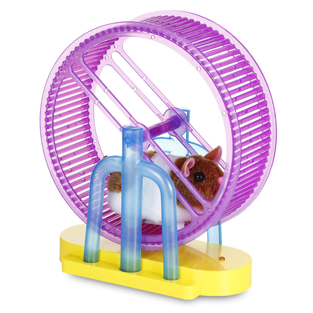 Electronic Pet Hamster Spinning Exercise Wheel Kids Electronic Toy Pet Playset