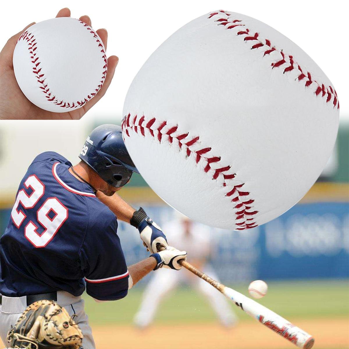 Mayitr Professional 10 Inch Baseball Sport Game White PU Base Ball Practice Training Softball Hand Sewing Sport Team Game