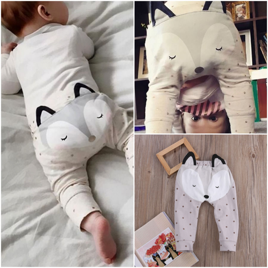 Pudcoco Baby Pants Trousers Newborn Baby-Boys-Girls Harem Cartoon 0-24M Uk-Stock