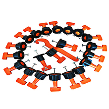 Tile Leveler 50pcs Mini Reusable T shaped Flooring Wall Tile Leveler Level Locator Alignment Auxiliary Hand Tool Kit