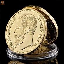 1901 imperador russo nicholas ii personagem banhado a ouro do mundo celebridade comemorativa moeda colecionáveis