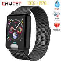 Smart Bracelet ECG PPG Watch Blood Pressure Measurement Waterproof Ip67 Women Fitness Tracker Watch Heart Rate Monitor Men