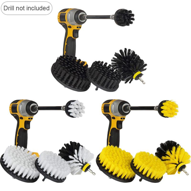Scrub-Kit-Set Extension-Rod Drill-Brush Seats Carpet-Fabric Motorcycle-Accessories Car-Cleaning-Deck title=