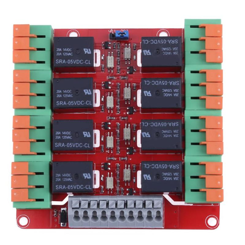 8 Channel 20A Relay Control Module High Low Electrical Level 8CH Module For Arduino UNO MEGA2560 R3 Raspberry Pi