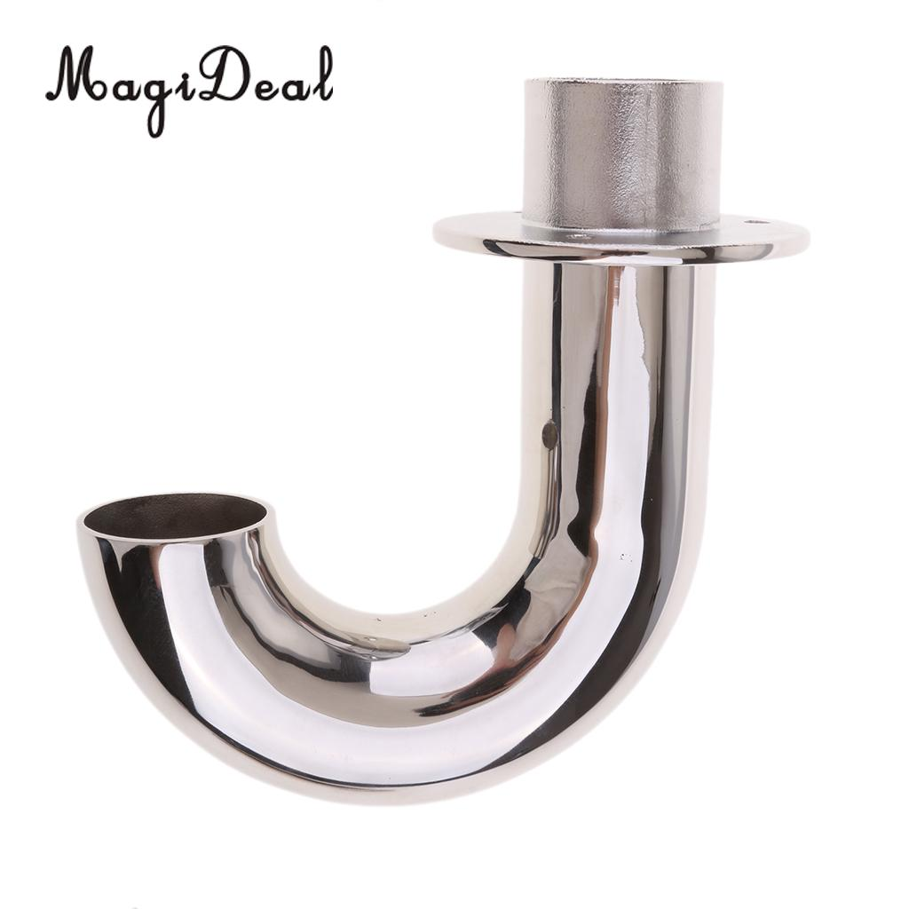 MagiDeal Durable Stainless Steel Fitting J Bend Elbow Connecting Pipe For Inflatable Boat Marine Dinghy Accessories