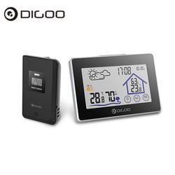 Digoo dg-th8380 Беспроводной Сенсорный экран термометр-гигрометр метеостанции термометр наружный прогноз Сенсор часы