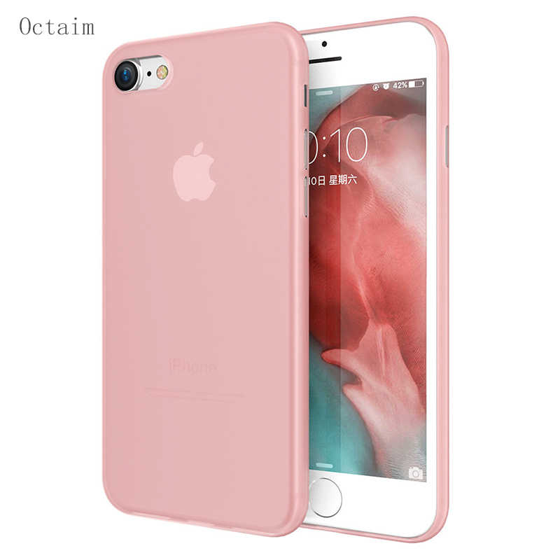 Phone Case For Apple iPhone 7 8 Plus Case Ultra Thin Matte Clear Soft PC Cases For iPhone XS MAX X Cover Funda Full Protective