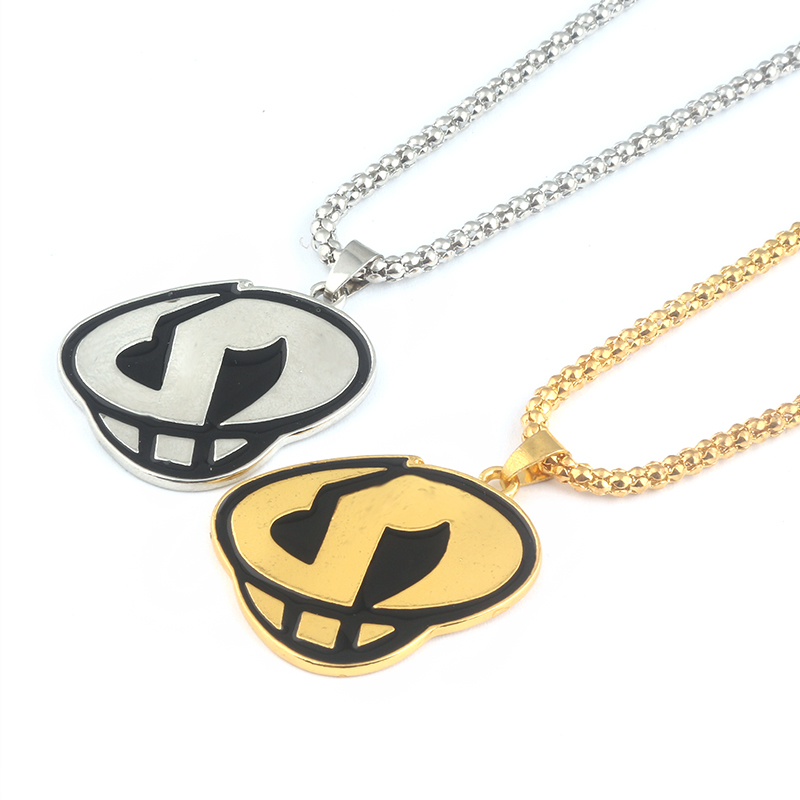 2Colors Pokemon Sun and Moon Team Skull Grunts Large enamel Pendant Game Hip hop Steampunk Chain Necklace Women and Men jewelry(China)