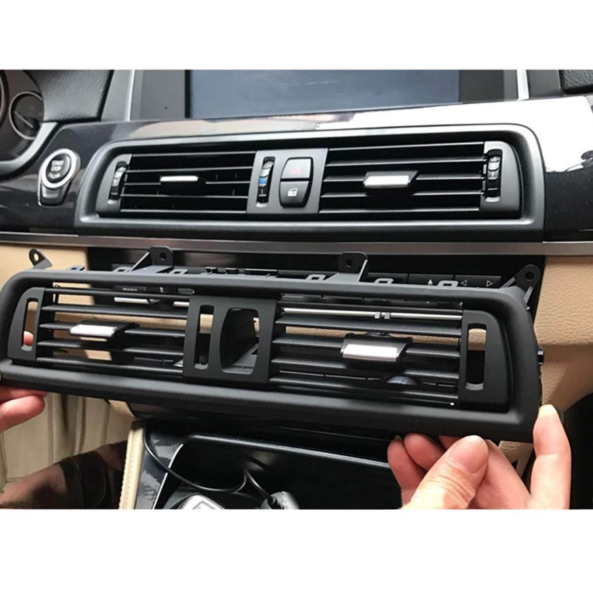 SODIAL Front Dash Panel Center Fresh Car Air Outlet Vent Grille Cover for BMW 5 F10 F18